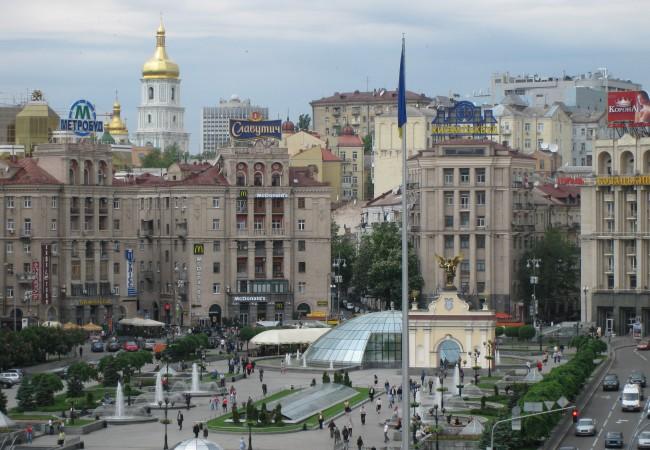 Kirkkoja ja muuta kaunista keväisessä Kiovassa