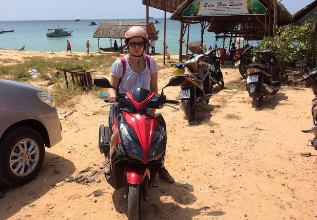 Phu Quoc haltuun skootterilla