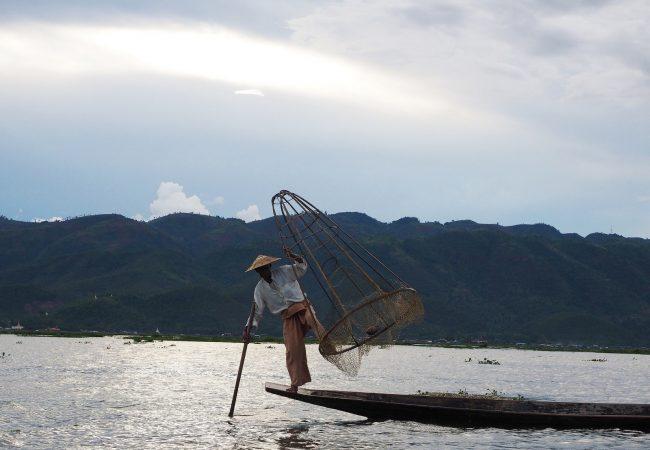 Inle lake ja kuuluisat kalastajat