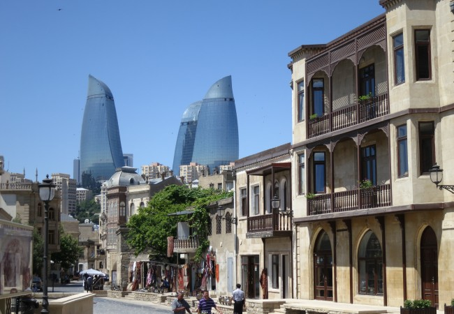 Bakun upea vanha kaupunki