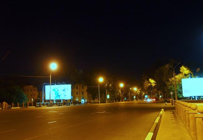 Tashkentissa pienellä iltakävelyllä