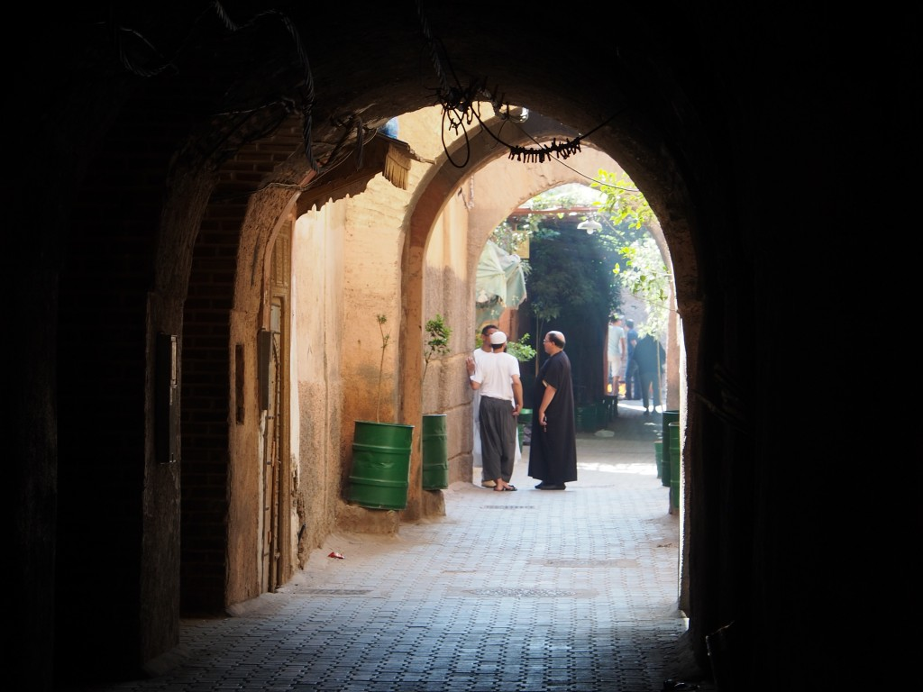 Karun kaunis Marrakeshin medina Eid al-Adhan rauhoittamana