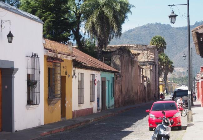 Värikäs ja historiallinen Antigua Guatemalassa. Tykkäsin ihan hulluna!
