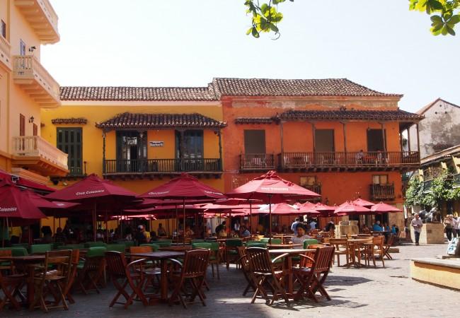 Cartagenan vanha kaupunki on kuin karamelli