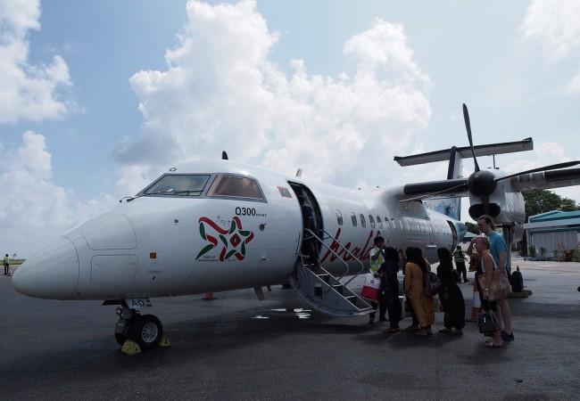 Aika eeppinen lentomatka Malésta Ganiin