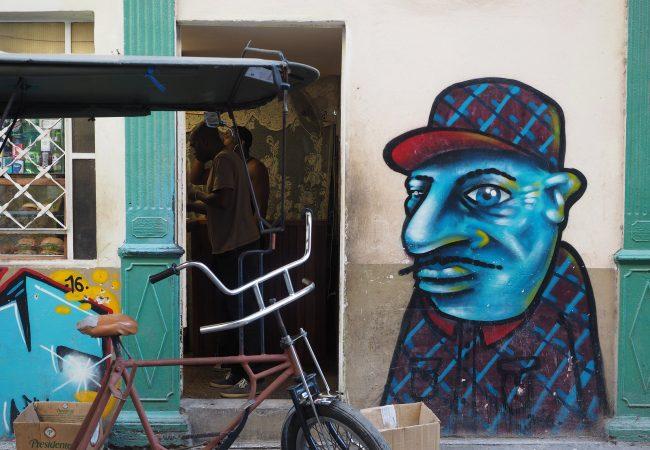Pieni galleria Havannan katutaidetta